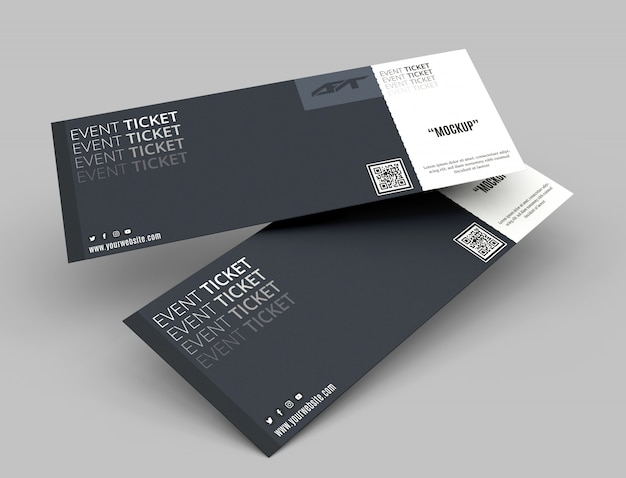 Evenement ticket mockup