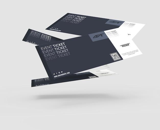 Evenement ticket mockup