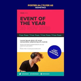 Evenement van het jaar flyer-sjabloon