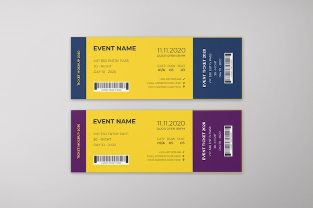 Event tickets mockup