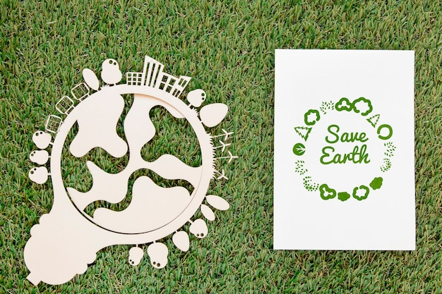 Evento della giornata mondiale dell'ambiente vista dall'alto