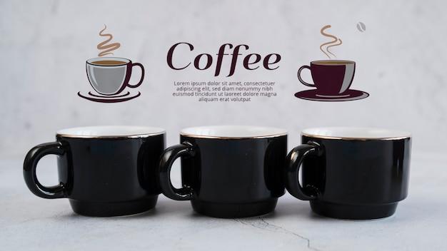 Evento del día de los amigos con tazas de café.