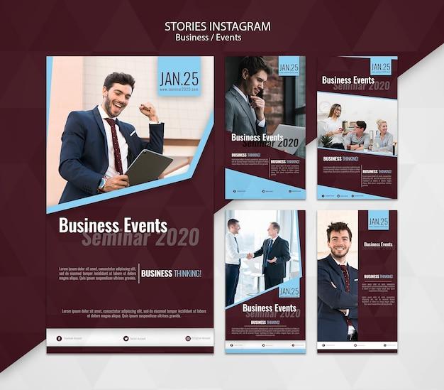 Eventos de negocios historias de instagram