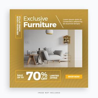 Exclusieve postsjabloon voor sociale media voor meubels