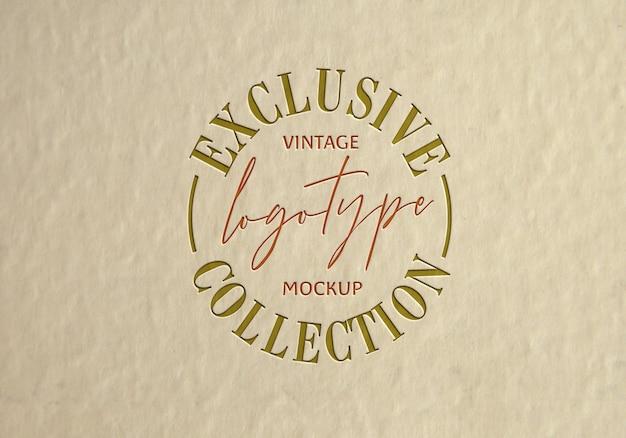 Exclusieve vintage logotype mockup-collectie
