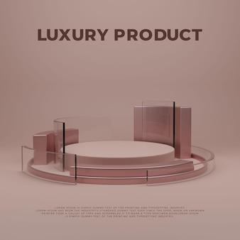 Exhibición de productos de podio de lujo elegante