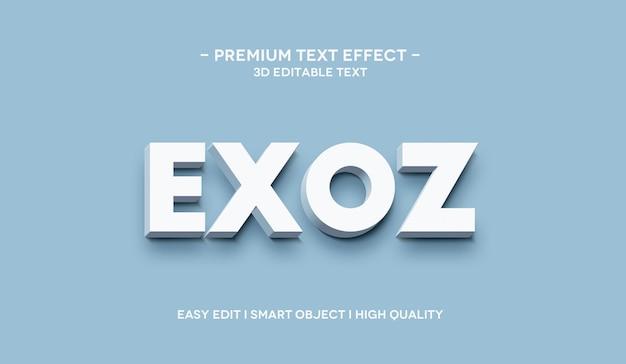 Exoz 3d-teksteffect-sjabloon