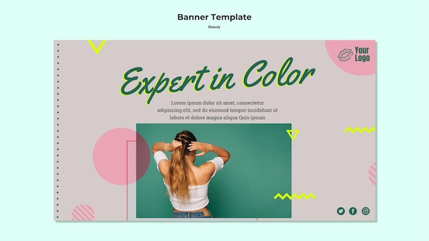 Expert in kleur banner websjabloon
