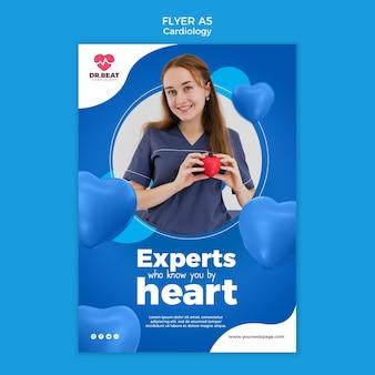 Experts die u kennen uit het hart flyer-sjabloon