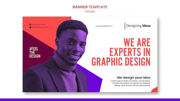 Experts in grafisch ontwerp-bannersjabloon