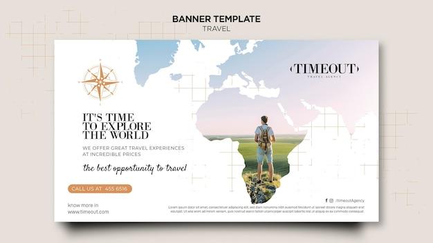 Explora la plantilla de banner del mundo
