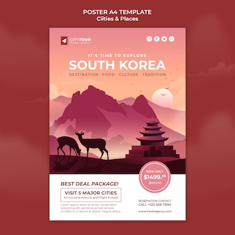 Explora la plantilla de póster de corea del sur
