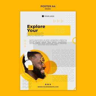 Explora tu plantilla de póster musical