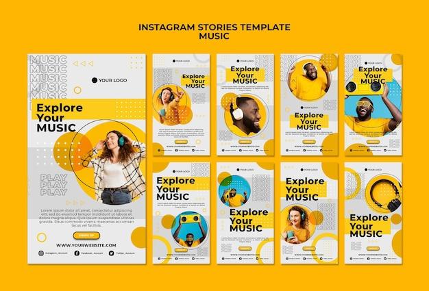 Explora tus historias de instagram de música