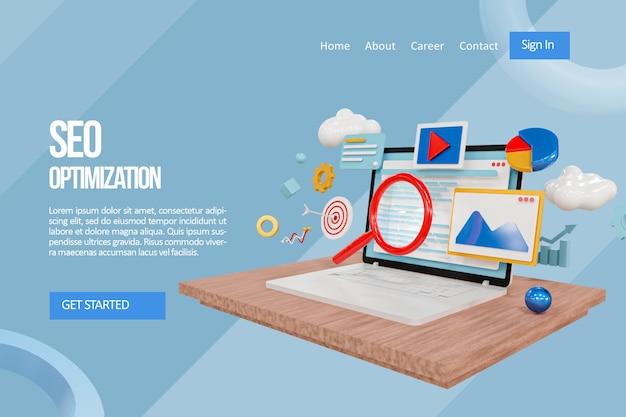 Exploración de la página de destino de optimización seo