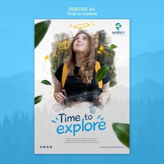 Explore la plantilla de póster de concepto