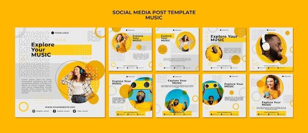 Publicación de música en las redes sociales PSD