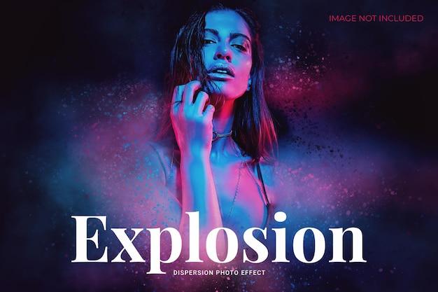 Explosie-dispersie foto-effect sjabloon