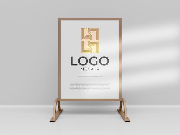 Exposant stand banner logo mockup 3d render