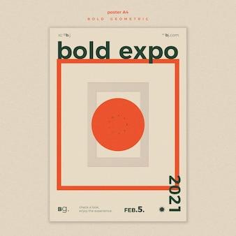 Expositie evenement sjabloon flyer