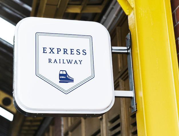 Express-station signage mockup