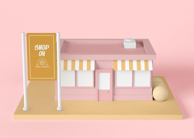 Exterieur advertentie winkelen concept