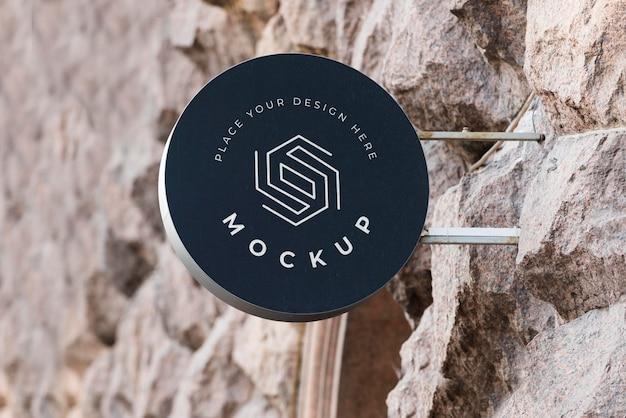 Exterieur bedrijfsbord mock-up