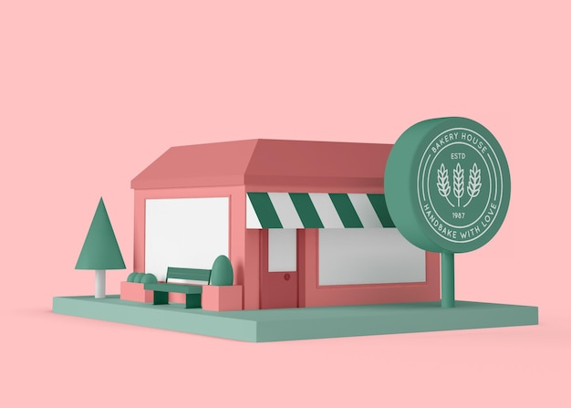 Exterieur commerciële bakkerij winkel