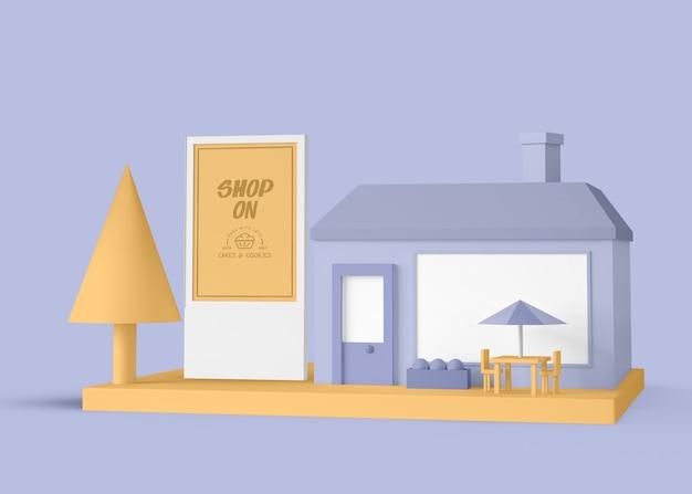 Exterieur commerciële taarten en koekjes winkel