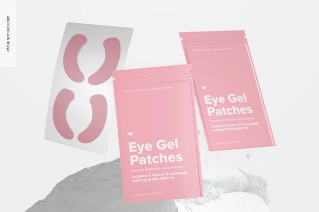 Eye gel patches verpakking scene set mockup