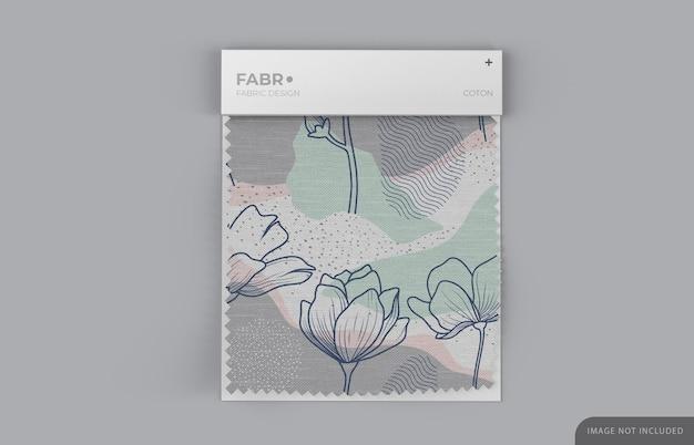 Fabric swatch mockup met witte papieren basis