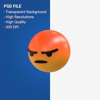 Facebook 3d emoji-reacties zoals geïsoleerd