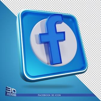 Facebook 3d-rendering pictogram geïsoleerd