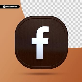 Facebook 3d toepassingsknop