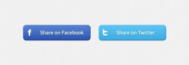 Facebook aandeel sociale knoppen twitter