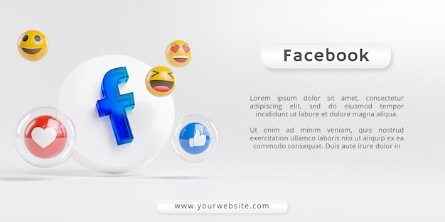 Facebook acrylglas-logo en social media iconen