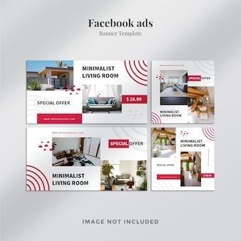 Facebook advertentie sjabloon voor spandoek