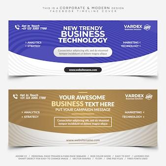 Facebook corporate voor zakelijke tijdlijn cover banner