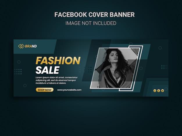 Facebook cover banner social media post voor promotie van modeverkoop
