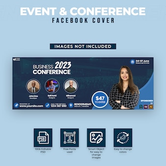 Facebook-cover voor evenementen en conferenties