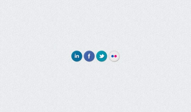 Facebook flickr linkedin los iconos sociales cosido twitter