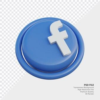 Facebook isometrische 3d-stijl logo concept icoon in ronde geïsoleerd