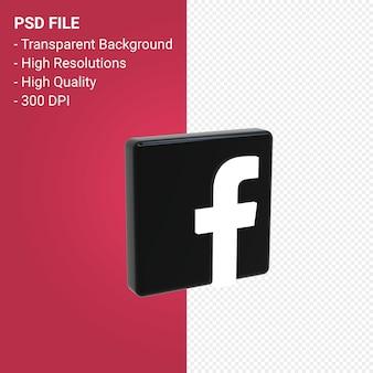 Facebook-logo 3d-rendering