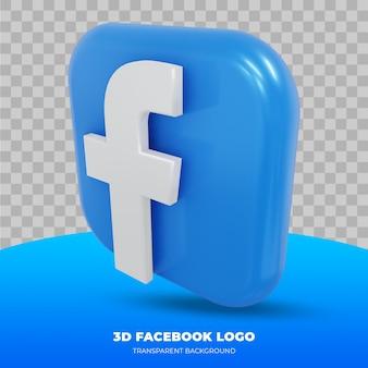 Facebook-logo geïsoleerd in 3d-rendering