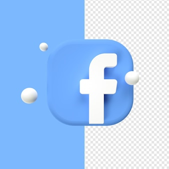 Facebook logo icon transparant 3d