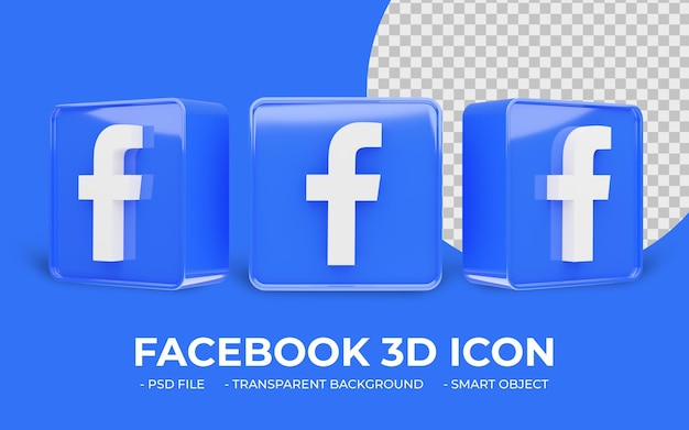 Facebook logo sociale media 3d-pictogram