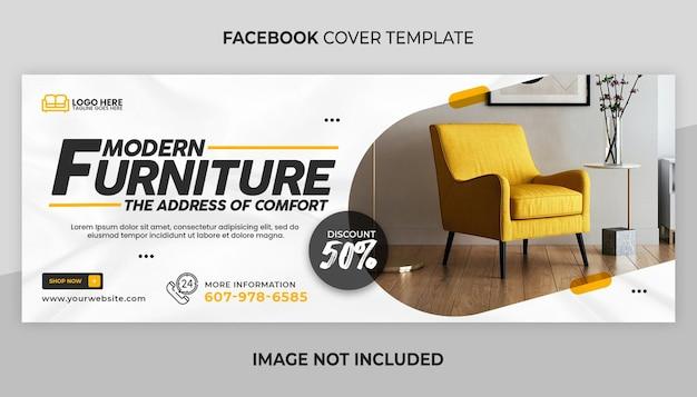 Facebook-omslag en webbannersjabloon voor meubels