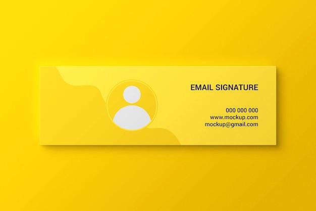 Facebook-omslag of webbanner of mockup voor e-mailhandtekening