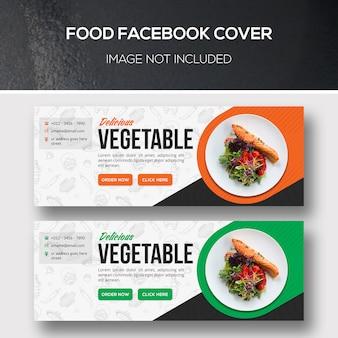 Facebook-omslag voor eten