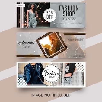 Facebook-omslagsjabloon voor mode